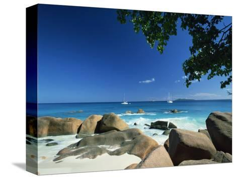 Beach Scene, Anse Lazio, Praslin, Seychelles, Indian Ocean, Africa-Lee Frost-Stretched Canvas Print