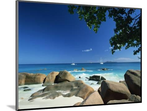 Beach Scene, Anse Lazio, Praslin, Seychelles, Indian Ocean, Africa-Lee Frost-Mounted Photographic Print