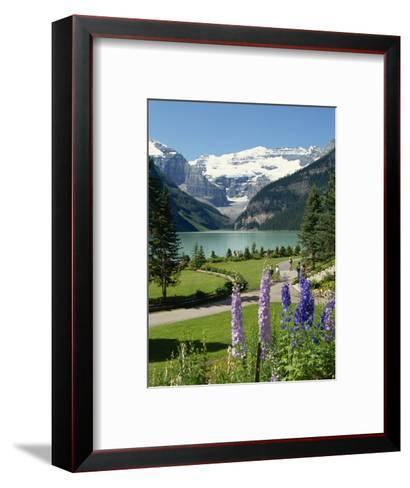 Lake Louise, Banff National Park, UNESCO World Heritage Site, Rocky Mountains, Alberta, Canada-Robert Harding-Framed Art Print