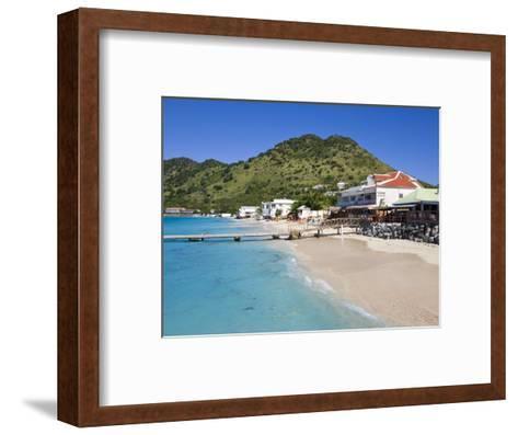 Beach at Grand-Case on the French Side, St. Martin, Leeward Islands, West Indies, Caribbean-Gavin Hellier-Framed Art Print