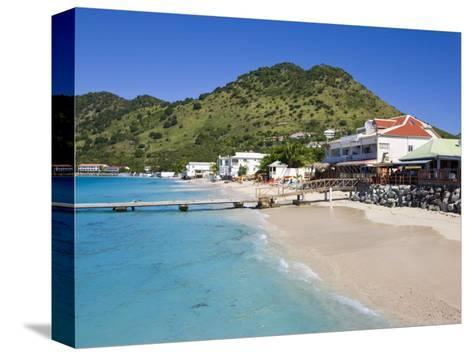 Beach at Grand-Case on the French Side, St. Martin, Leeward Islands, West Indies, Caribbean-Gavin Hellier-Stretched Canvas Print