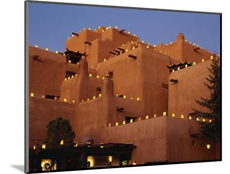 Farolitos at Loretto During the Christmas Season, at Santa Fe, New Mexico, USA-Westwater Nedra-Mounted Photographic Print