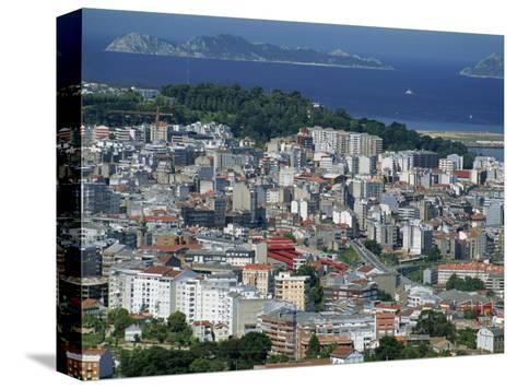 City and the Ria De Vigo, Islas Cies in the Distance, Vigo, Galicia, Spain, Europe-Maxwell Duncan-Stretched Canvas Print