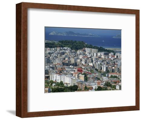 City and the Ria De Vigo, Islas Cies in the Distance, Vigo, Galicia, Spain, Europe-Maxwell Duncan-Framed Art Print