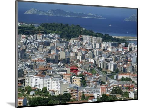 City and the Ria De Vigo, Islas Cies in the Distance, Vigo, Galicia, Spain, Europe-Maxwell Duncan-Mounted Photographic Print
