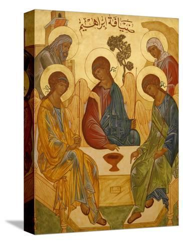 Melkite Icon of Abraham's Trinity, Nazareth, Galilee, Israel, Middle East-Godong-Stretched Canvas Print