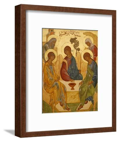 Melkite Icon of Abraham's Trinity, Nazareth, Galilee, Israel, Middle East-Godong-Framed Art Print