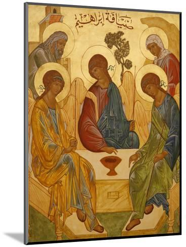 Melkite Icon of Abraham's Trinity, Nazareth, Galilee, Israel, Middle East-Godong-Mounted Photographic Print