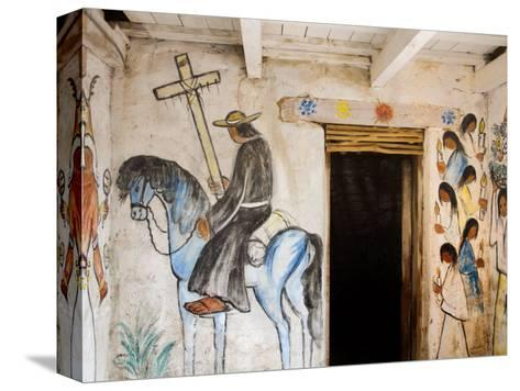 Adobe Mission Interior, De Grazia Gallery in Sun, Tucson, Arizona-Richard Cummins-Stretched Canvas Print