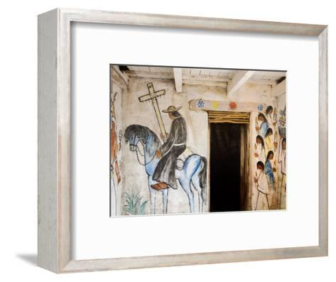 Adobe Mission Interior, De Grazia Gallery in Sun, Tucson, Arizona-Richard Cummins-Framed Art Print