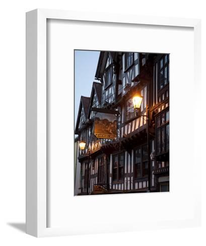 Ye Old Bullring Tavern Public House Dating from 14th Century, at Night, Ludlow, Shropshire, England-Nick Servian-Framed Art Print