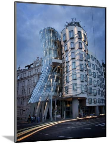 Dancing House (Fred and Ginger Building), by Frank Gehry, at Dusk, Prague, Czech Republic-Nick Servian-Mounted Photographic Print