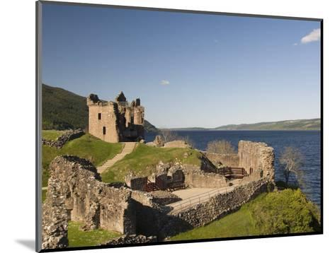 Castle Urquhart. Loch Ness, Highlands, Scotland, United Kingdom, Europe-Richard Maschmeyer-Mounted Photographic Print