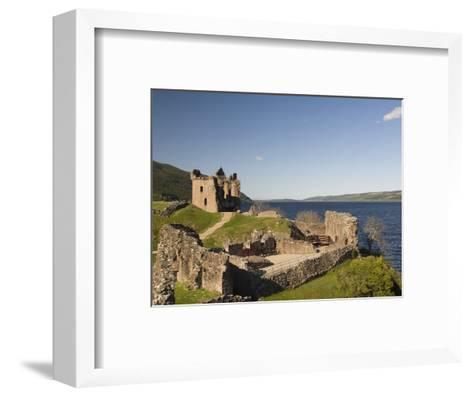 Castle Urquhart. Loch Ness, Highlands, Scotland, United Kingdom, Europe-Richard Maschmeyer-Framed Art Print