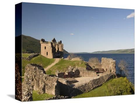 Castle Urquhart. Loch Ness, Highlands, Scotland, United Kingdom, Europe-Richard Maschmeyer-Stretched Canvas Print
