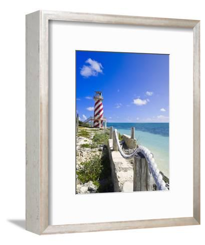 High Rock Lighthouse at High Rock, Grand Bahama, the Bahamas, West Indies, Central America-Michael DeFreitas-Framed Art Print