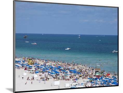 Crowded Beach, South Beach, Miami Beach, Florida, United States of America, North America-Angelo Cavalli-Mounted Photographic Print