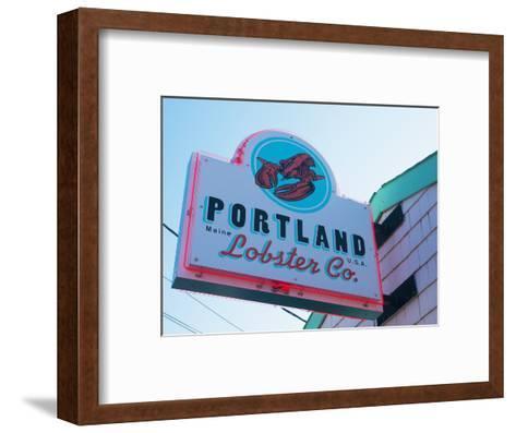 Lobster Restaurant, Portland, Maine, New England, United States of America, North America-Alan Copson-Framed Art Print