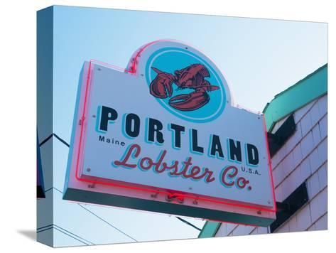 Lobster Restaurant, Portland, Maine, New England, United States of America, North America-Alan Copson-Stretched Canvas Print