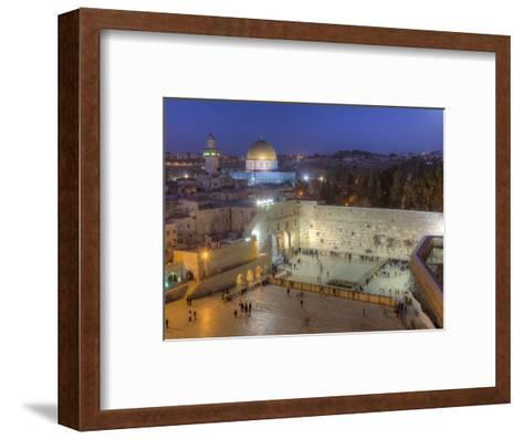 Jewish Quarter of Western Wall Plaza, Old City, UNESCO World Heritge Site, Jerusalem, Israel-Gavin Hellier-Framed Art Print