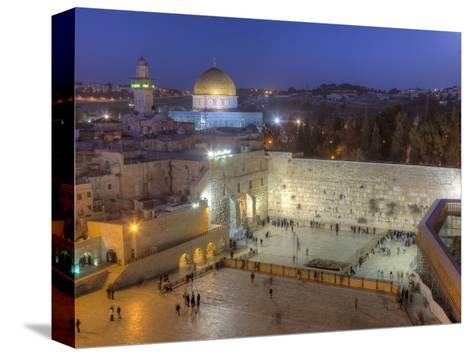 Jewish Quarter of Western Wall Plaza, Old City, UNESCO World Heritge Site, Jerusalem, Israel-Gavin Hellier-Stretched Canvas Print