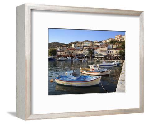 Harbour View, Pythagorion, Samos, Aegean Islands, Greece-Stuart Black-Framed Art Print