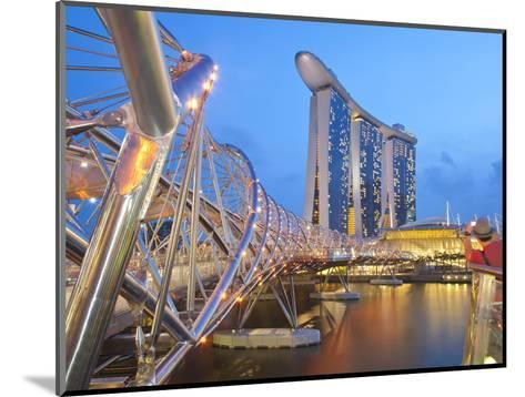 The Helix Bridge and Marina Bay Sands, Marina Bay, Singapore, Southeast Asia, Asia-Gavin Hellier-Mounted Photographic Print