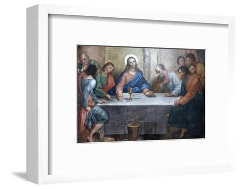 Last Supper Painting in Our Lady of Bonfim Church, Salvador, Bahia, Brazil, South America-Godong-Framed Art Print