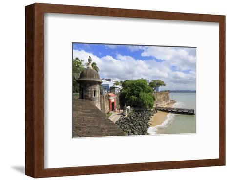 City Walls in Old San Juan, Puerto Rico, West Indies, Caribbean, Central America-Richard Cummins-Framed Art Print