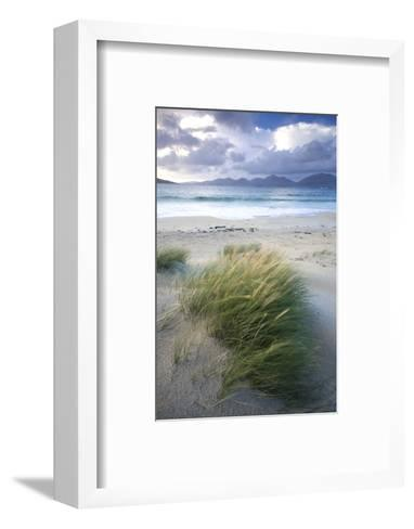 Beach at Luskentyre with Dune Grasses Blowing-Lee Frost-Framed Art Print