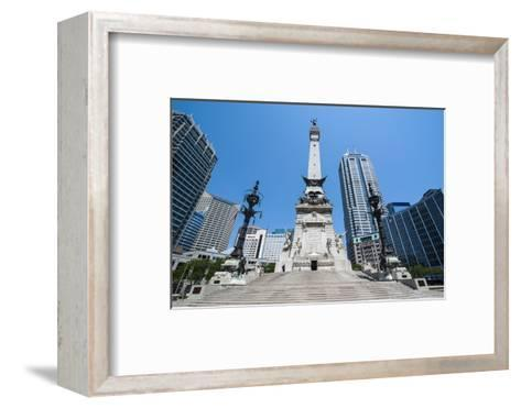 Soldiers' and Sailors' Monument, Indianapolis, Indiana, United States of America, North America-Michael Runkel-Framed Art Print