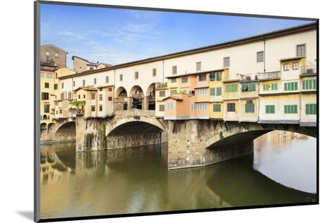 Ponte Vecchio, Florence, UNESCO World Heritage Site, Tuscany, Italy, Europe-Markus Lange-Mounted Photographic Print