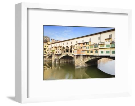 Ponte Vecchio, Florence, UNESCO World Heritage Site, Tuscany, Italy, Europe-Markus Lange-Framed Art Print