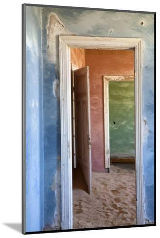 Interior of Building Slowly Being Consumed by the Sands of the Namib Desert-Lee Frost-Mounted Photographic Print