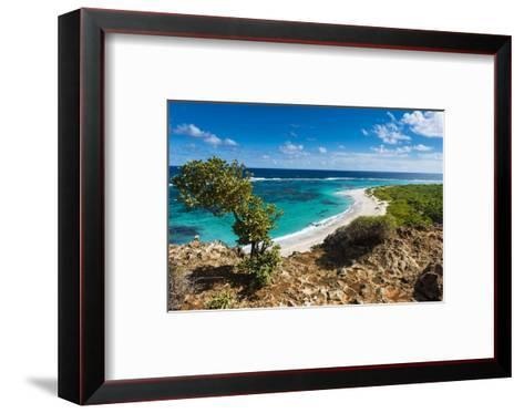 View over the Turquoise Waters of Barbuda-Michael Runkel-Framed Art Print