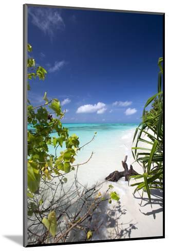 Beach on Desert Island, Maldives, Indian Ocean, Asia-Sakis Papadopoulos-Mounted Photographic Print