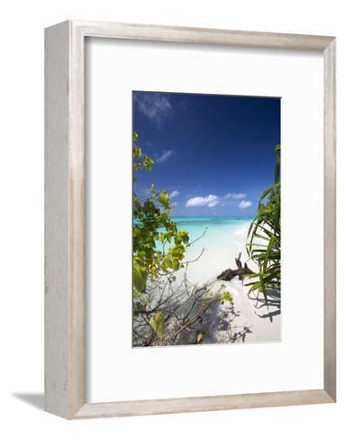 Beach on Desert Island, Maldives, Indian Ocean, Asia-Sakis Papadopoulos-Framed Art Print
