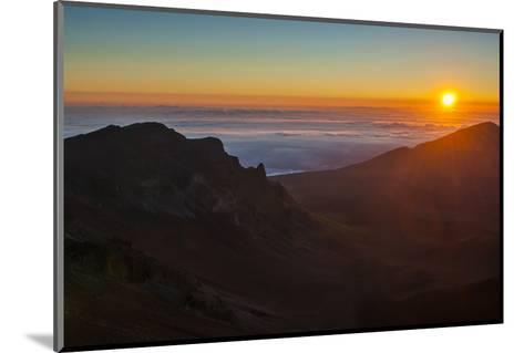 Sunrise Above Haleakala National Park, Maui, Hawaii, United States of America, Pacific-Michael Runkel-Mounted Photographic Print