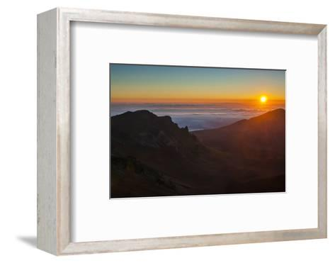 Sunrise Above Haleakala National Park, Maui, Hawaii, United States of America, Pacific-Michael Runkel-Framed Art Print