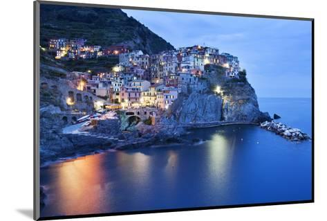 The Cinque Terre Village of Manarola at Dusk-Mark Sunderland-Mounted Photographic Print