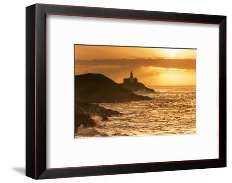 Mumbles Lighthouse, Bracelet Bay, Gower, Swansea, Wales, United Kingdom, Europe-Billy-Framed Art Print