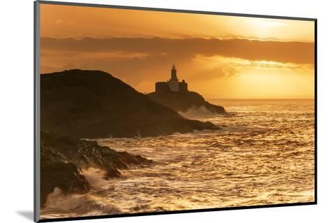 Mumbles Lighthouse, Bracelet Bay, Gower, Swansea, Wales, United Kingdom, Europe-Billy-Mounted Photographic Print