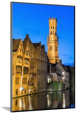 Belfry at Twilight, Historic Center of Bruges, UNESCO World Heritage Site, Belgium, Europe-G&M-Mounted Photographic Print