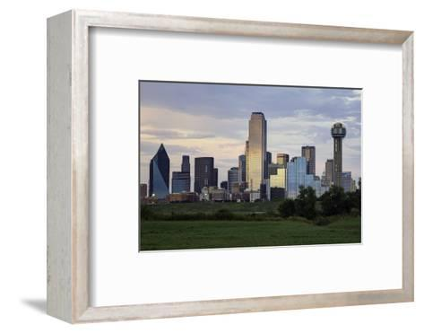 Dallas City Skyline and the Reunion Tower, Texas, United States of America, North America-Gavin-Framed Art Print