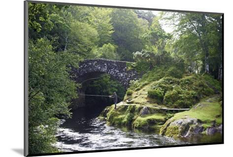 Fly Fishing on the River Shiel, Near Acharacle, Invernesshire, Scotland, United Kingdom, Europe-Duncan Maxwell-Mounted Photographic Print