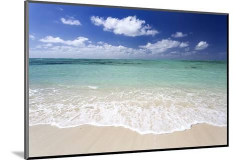 Idyllic Beach Scene with Blue Sky, Aquamarine Sea and Soft Sand, Ile Aux Cerfs-Lee Frost-Mounted Photographic Print