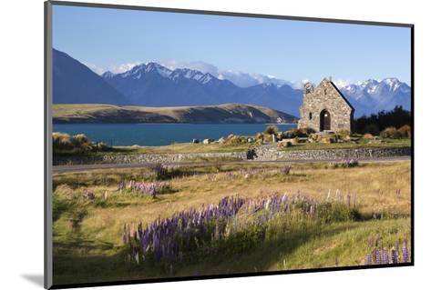 Church of the Good Shepherd, Lake Tekapo, Canterbury Region, South Island, New Zealand, Pacific-Stuart Black-Mounted Photographic Print