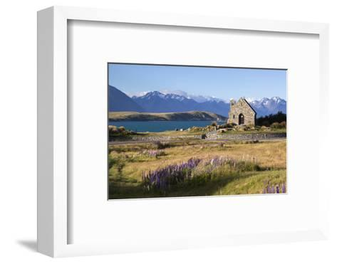 Church of the Good Shepherd, Lake Tekapo, Canterbury Region, South Island, New Zealand, Pacific-Stuart Black-Framed Art Print