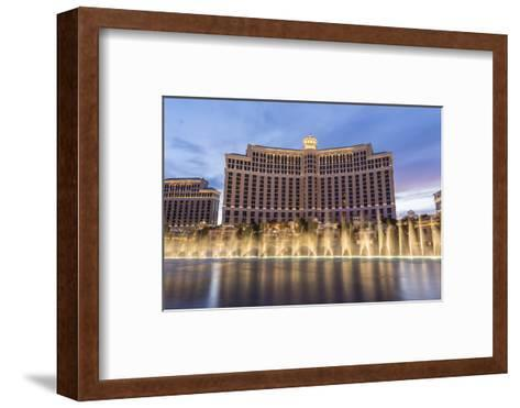 Bellagio at Dusk with Fountains, the Strip, Las Vegas, Nevada, Usa-Eleanor Scriven-Framed Art Print