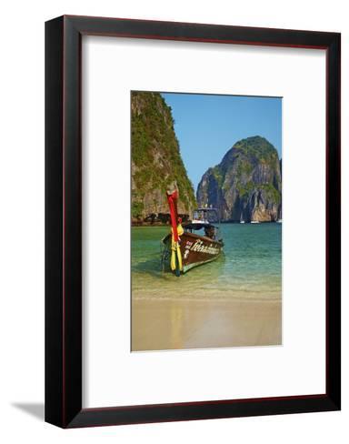 Ao Maya Bay, Ko Phi Phi Le Island, Krabi Province, Thailand, Southeast Asia, Asia--Framed Art Print